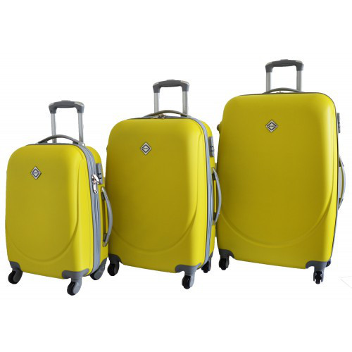 Набір валіз на колесах Bonro Smile Жовтий 3 штуки