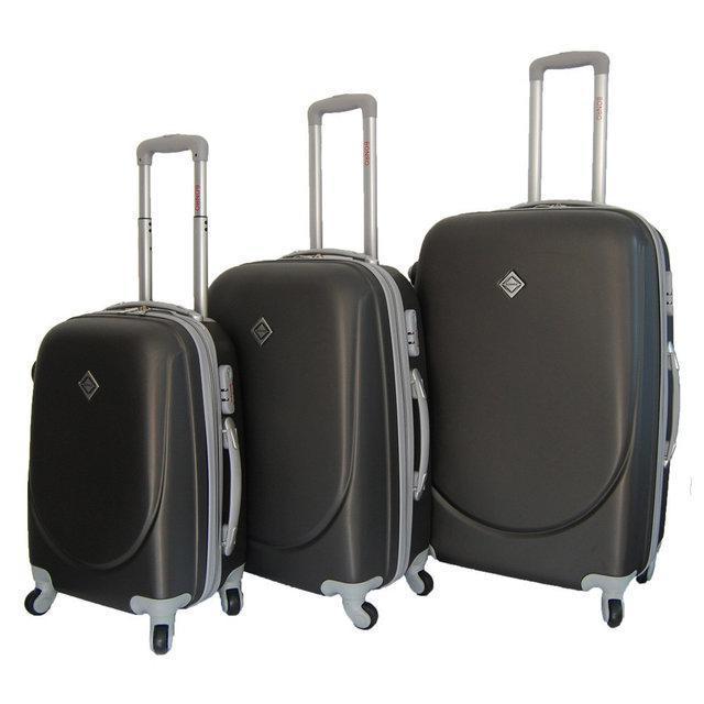 Набір валіз на колесах Bonro Smile Темно-сірий 3 штуки