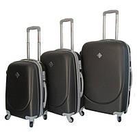 Набір валіз на колесах Bonro Smile Темно-сірий 3 штуки, фото 1