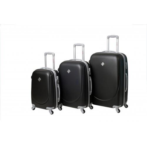 Набор чемоданов на колесах Bonro Smile Черный 3 штуки