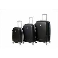 Набор чемоданов на колесах Bonro Smile Черный 3 штуки, фото 1