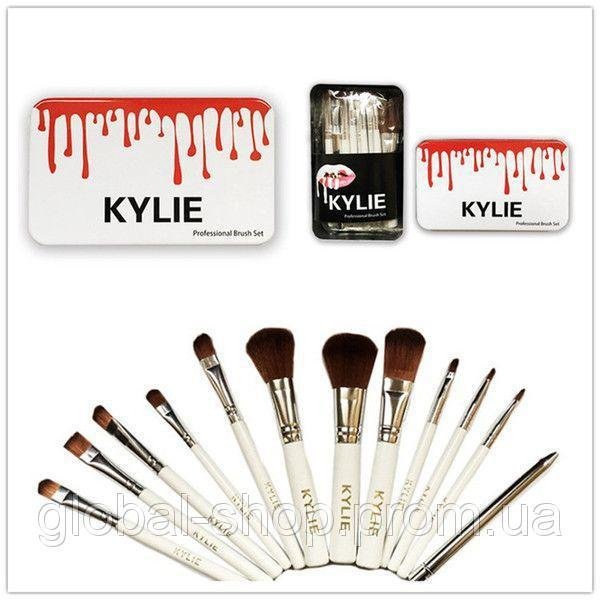 🔥✅ Профессиональный набор кистей для макияжа Kylie Jenner 12 шт.