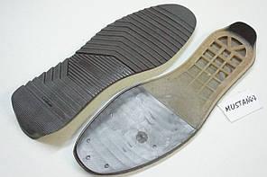 Подошва для обуви мужкая Мустанг-7 коричневий р. 42,44,45, фото 3