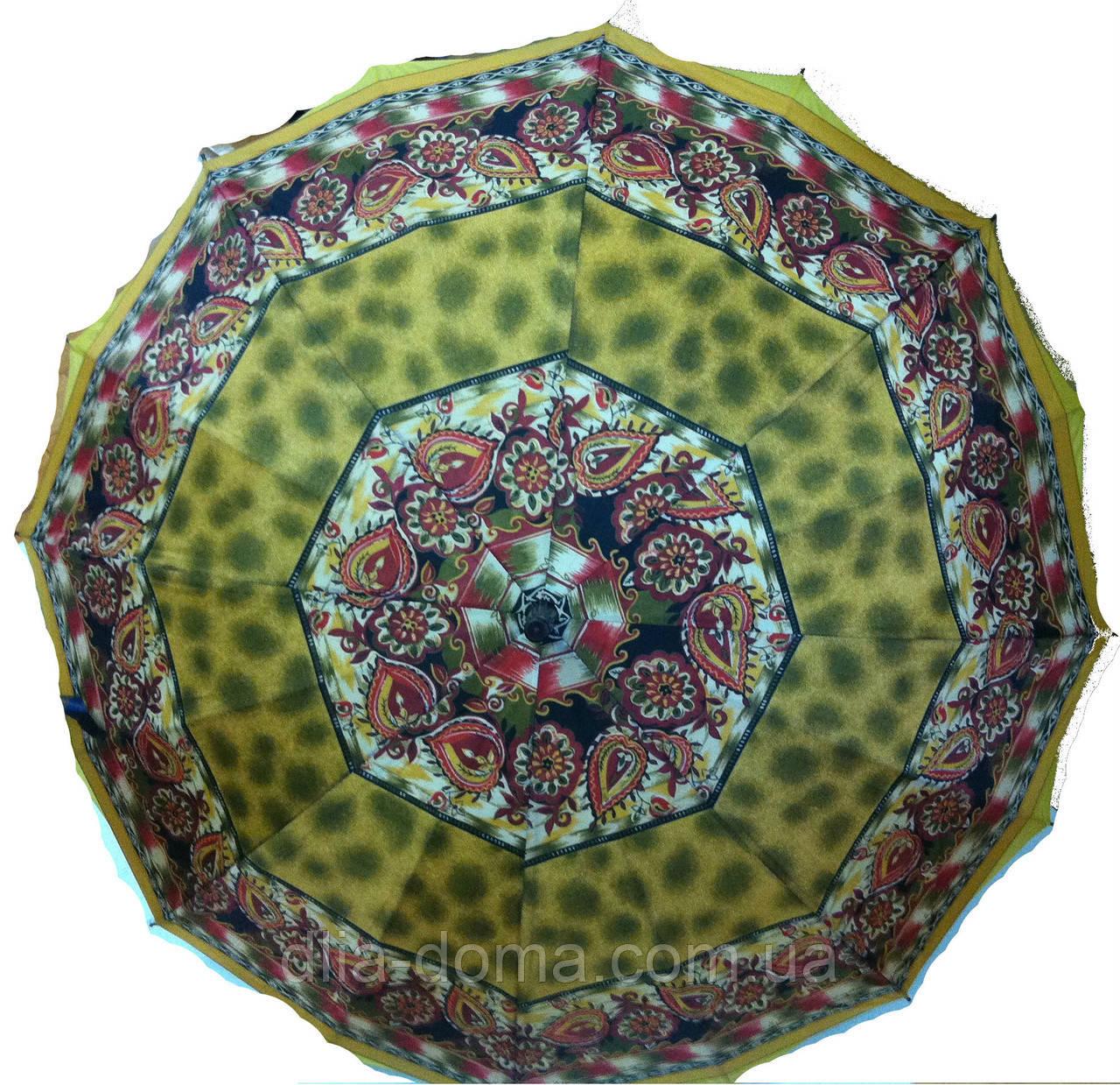 """Зонт трость жіночий, подвійна тканина """"Зірка"""" Жовтий"""