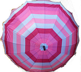 Зонты женские трость двойная ткань Звезда Розовый