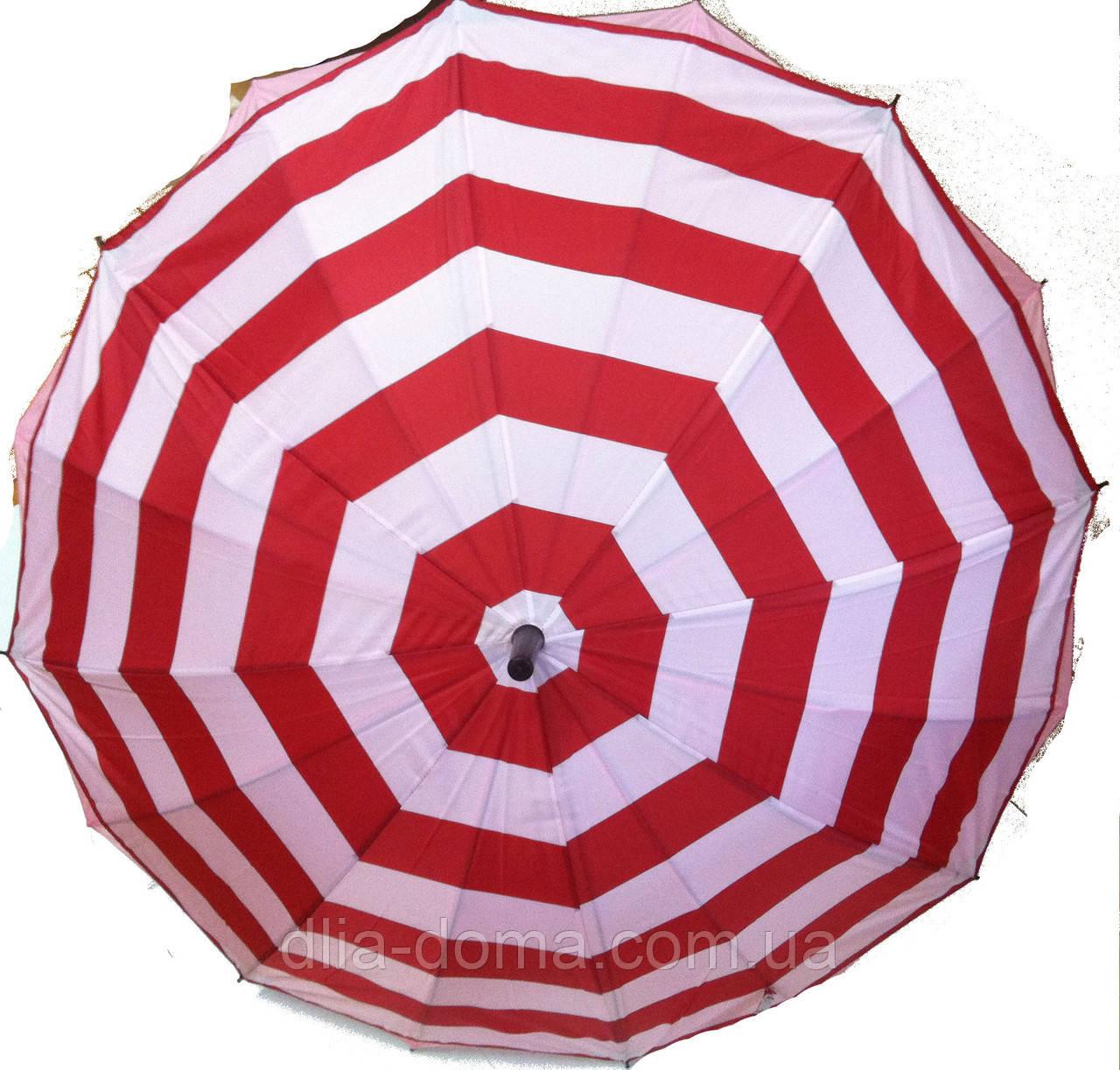 """Зонт  трость женский, двойная ткань """"Звезда"""" Красный"""