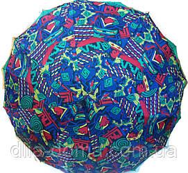 Зонты женские трость двойная ткань Звезда Синий