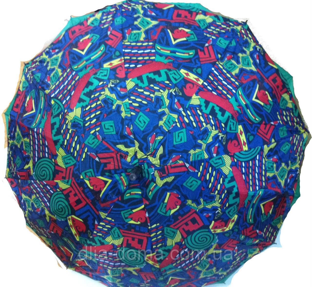 """Зонт трость жіночий, подвійна тканина """"Зірка"""" Синій"""