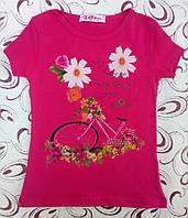 Футболка  девочке Велосипед, р.  7 (маломерит), фото 1