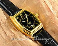 Мужские наручные часы Franck Muller Art Deco Black Gold реплика Франк Мюллер механические с автоподзаводом
