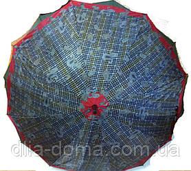 Зонты женские трость двойная ткань Звезда Разные цвета
