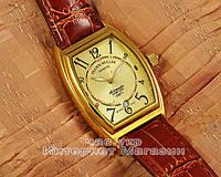 Мужские наручные часы Franck Muller Art Deco Gold Brown реплика Франк Мюллер механические с автоподзаводом, фото 1