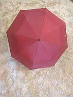 Красный складной зонт Krispils с серебром внутри (круглая ручка)