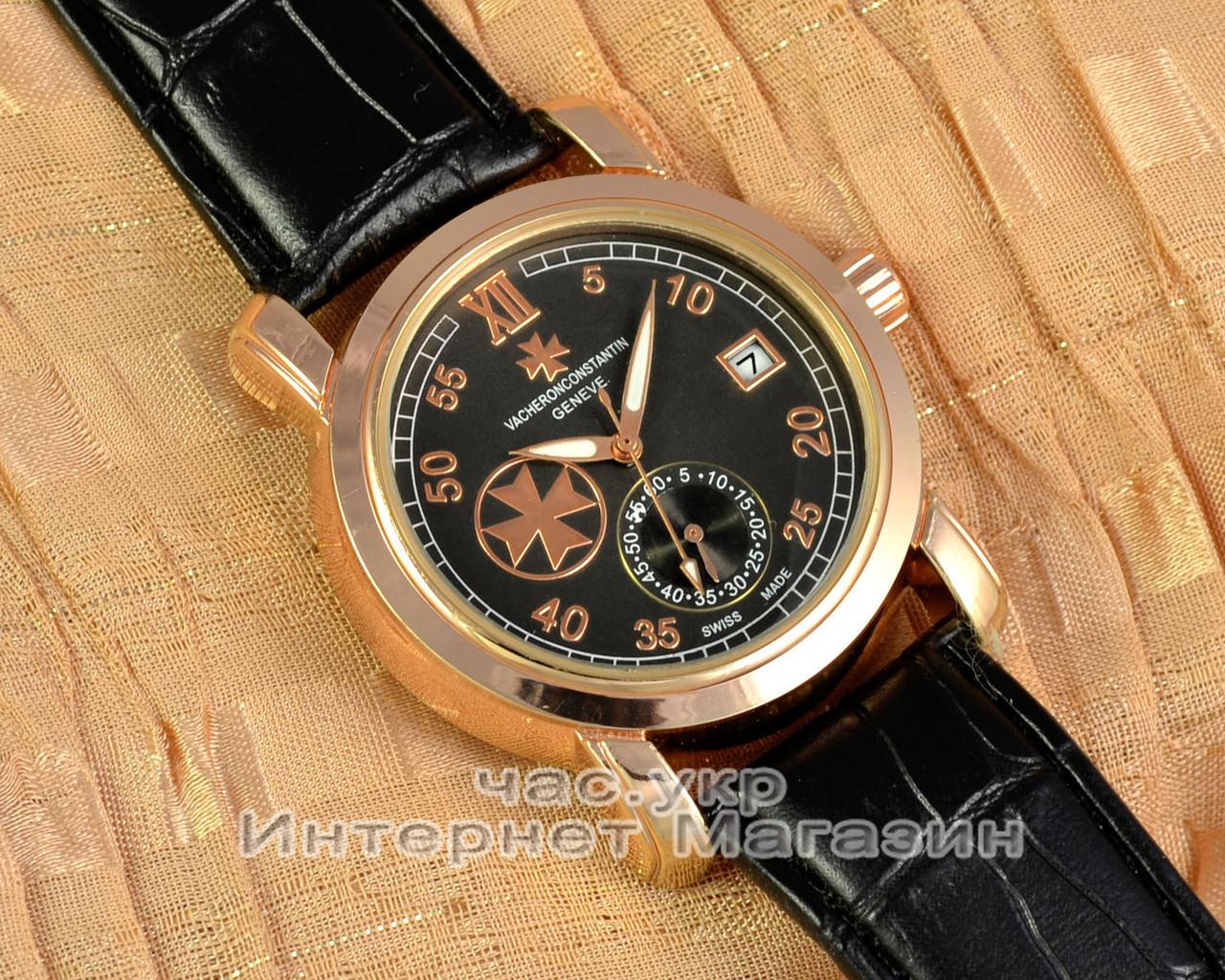 Часы Vacheron Constantin Patrimony Traditionnelle Gold Black реплика мужские женские унисекс механика