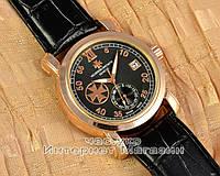 Часы Vacheron Constantin Patrimony Traditionnelle Gold Black реплика мужские женские унисекс механика, фото 1