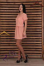 """Классическое летнее свободное женское платье с вырезом на спине """"Линда"""", черное, фото 3"""