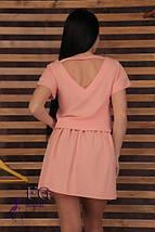 """Широкое летнее однотонное женское платье с вырезом на спине, рукав реглан """"Линда"""", мятное, фото 3"""