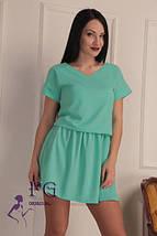 """Классическое летнее свободное женское платье с вырезом на спине """"Линда"""", черное, фото 2"""
