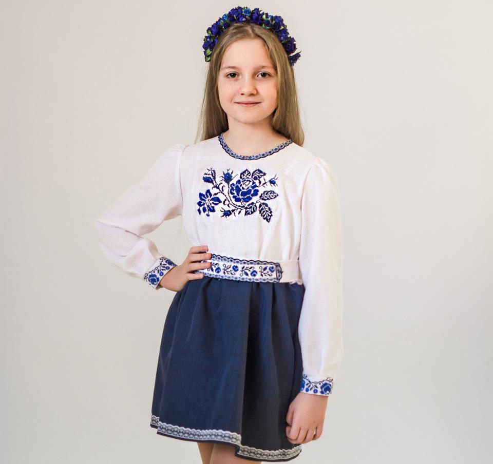 Вишитий костюм-плаття Троянда (2-11років d42c92194096b