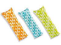 """Надувной матрас """"Мозаика"""" 3 цвета, рамером 183-69см. Intex 59712"""