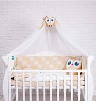 Детский постельный комплект Dckids CUTE OWLS  БК-007, бежевый