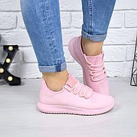 Кроссовки женские Изи розовые 4718, спортивная обувь, фото 1