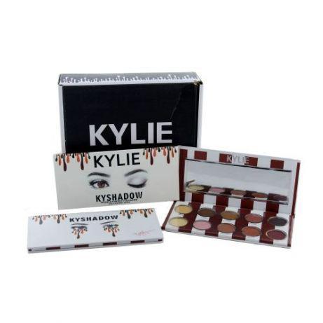 🔥✅ Набор теней для век с зеркалом Kylie Jenner Kyshadow 10 цветов