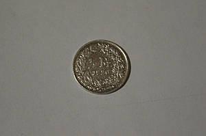 Швейцария 1/2 франк 1920 В года, Гельве́ция, серебро