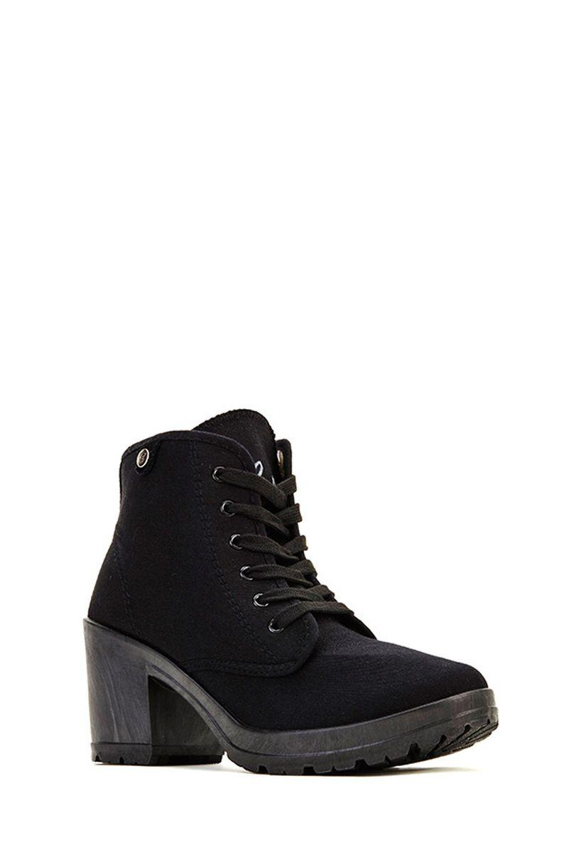 Ботильоны на каблуке JustFab Womens Gerla Black