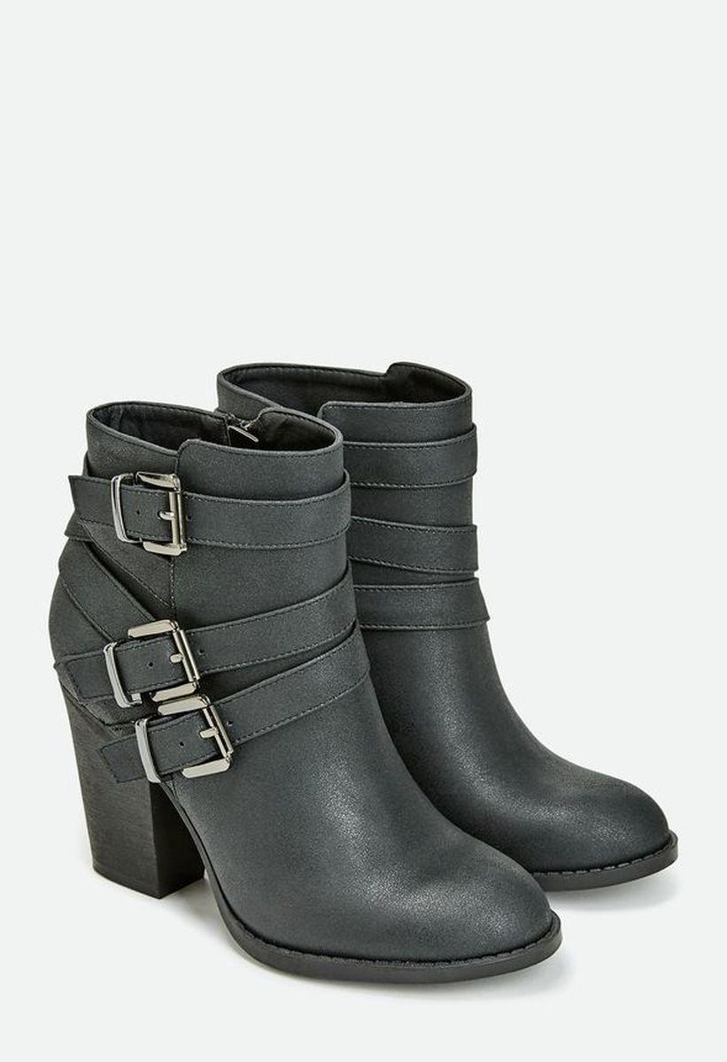 Ботильоны на каблуке JustFab Womens Grecia Black