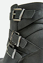 Ботильоны на каблуке JustFab Womens Grecia Black, фото 3
