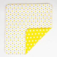 Детское хлопковое одеяло BabySoon Солнышко 80х85 см желтого цвета