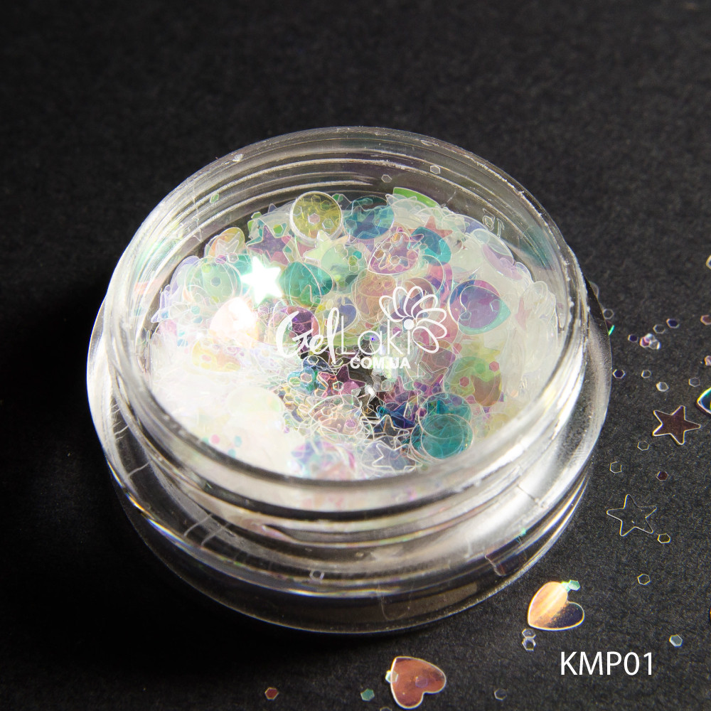 Прозрачные голографические камифубуки (микс форм), KMP-01