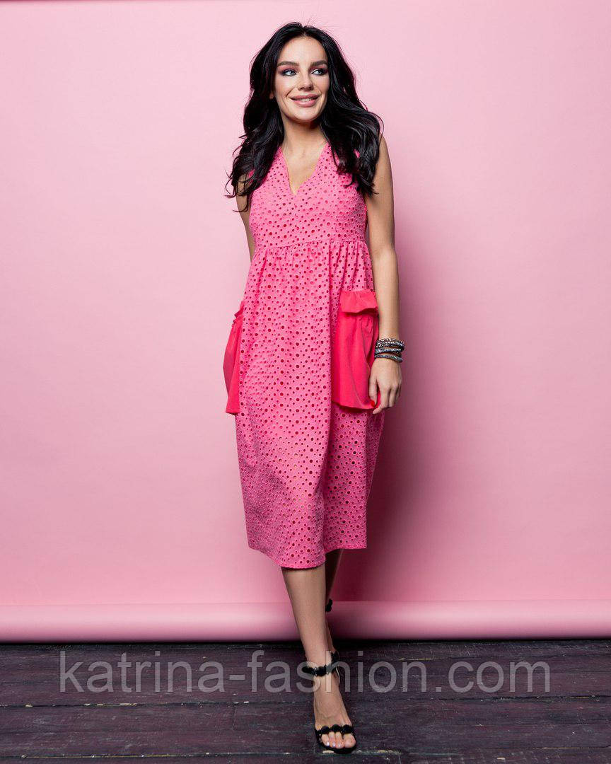 Женское летнее платье/сарафан-двойка (3 цвета)