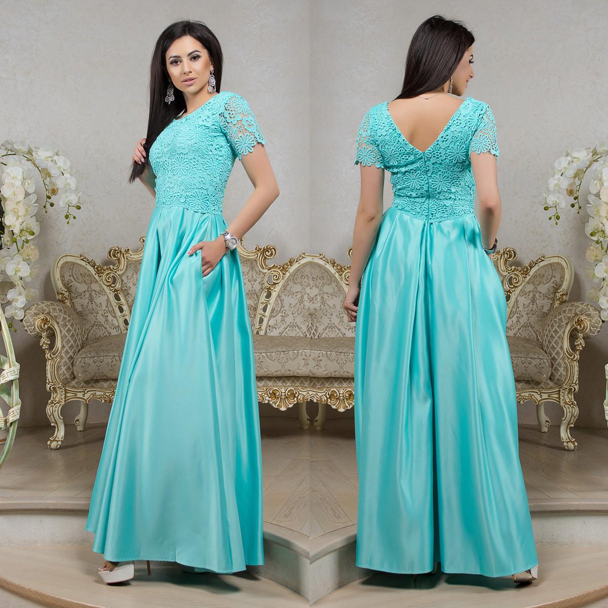 c2b8dfa6f2d Длинное мятное платье выпускное