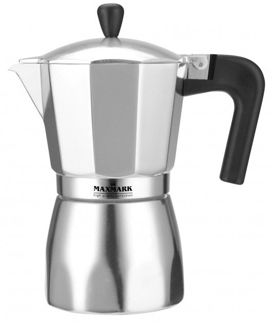 Кофеварка гейзерная Maxmark 450мл  MK-AL109