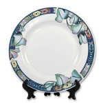 "Тарелка с орнаментом ""Лотос"" для сублимации, PR800D"