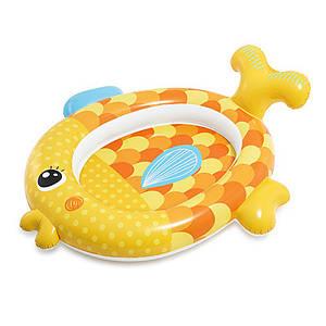 Надувной детский бассейн Золотая рыбка Intex на 34 л