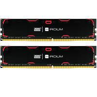 Модуль памяти для компьютера DDR4 8GB (2x4GB) 2400 MHz Iridium Black GOODRAM (IR-2400D464L15S/8GDC)
