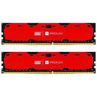 Модуль памяти для компьютера DDR4 16GB (2x8GB) 2400 MHz Iridium Red GOODRAM (IR-R2400D464L15S/16GDC)