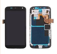 Дисплей (экран) для Motorola XT1052 Moto X/XT1053/XT1055/XT1058/XT1060 + тачскрин, черный с передней панелью