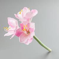 Искусственный цветок амариллис розовый.