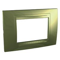 Рамка 3-мод. Золотистый Unica Schneider, MGU4.103.64