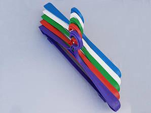 Длина 41 см. Плечики пластмассовые Гем-3 разные цвета, 10 штук в упаковке одного цвета