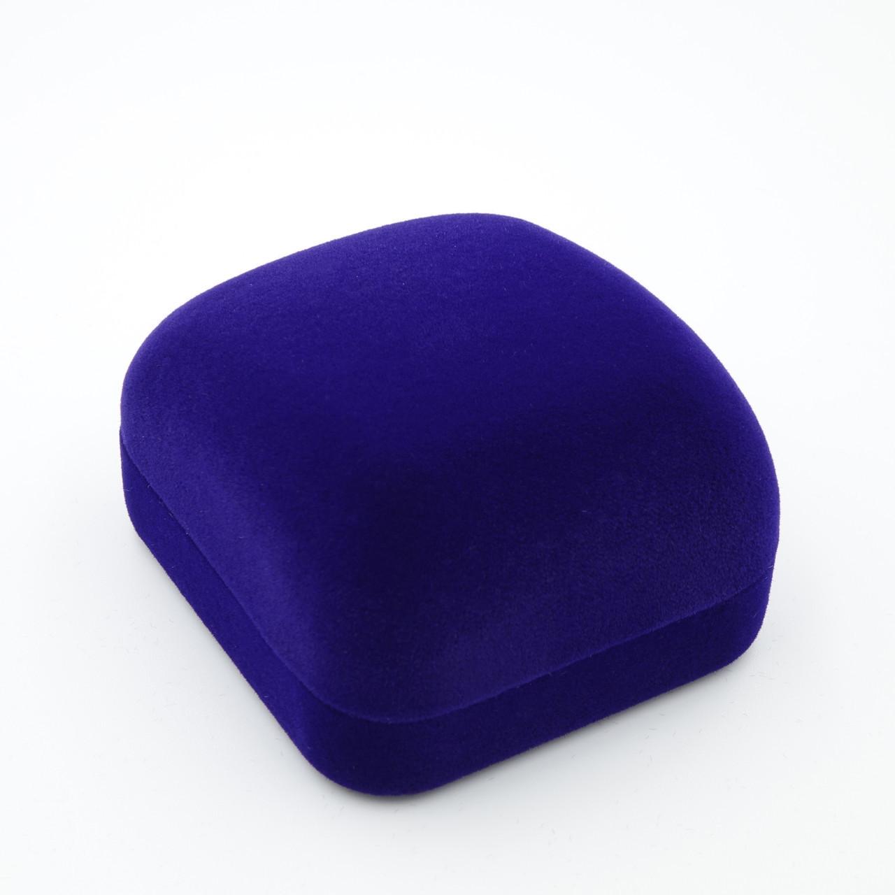 Футляр под ювелирные изделия Классика квадрат синий