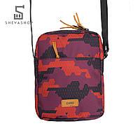 Сумка-мессенджер на плечо Gard red triangle print 1/18 красный