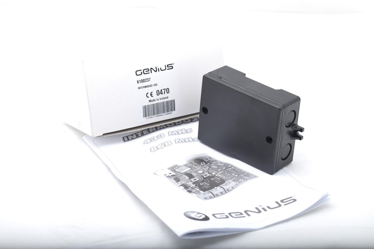 Внешний универсальный 2-х канальный приемник FAAC Genius XR2 433C GEN INTERMODO2