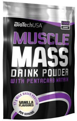Гейнер BioTech USA Muscle Mass 1000g