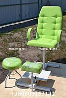 Кресло педикюрное, подставка для ног, стул мастера, педикюрный комплект