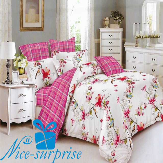 купить двуспальный постельный комплект из сатина в Харькове